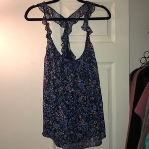 AEO Floral Crepe Tank